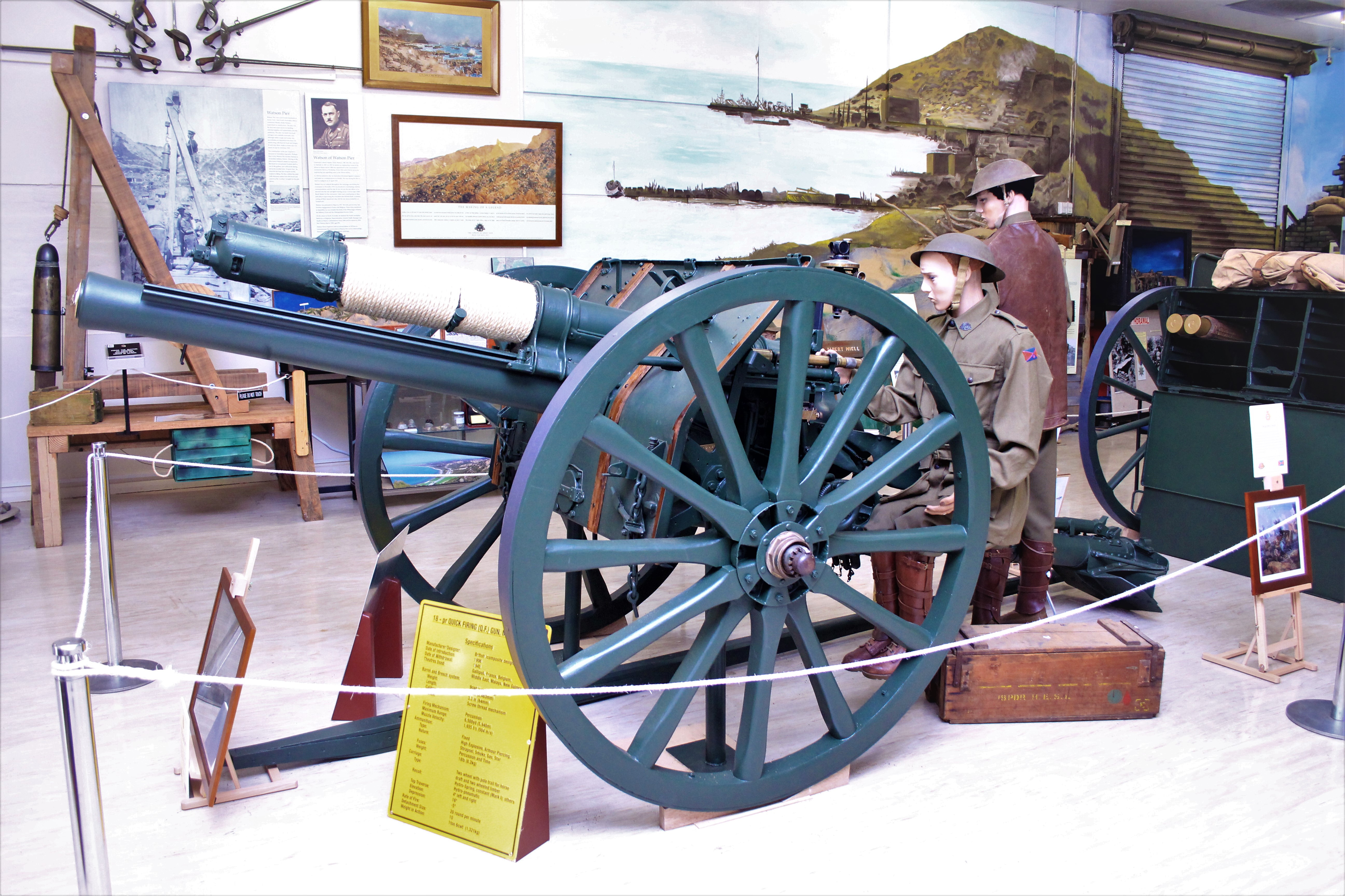 18 pounder gun used in WWI & WWII